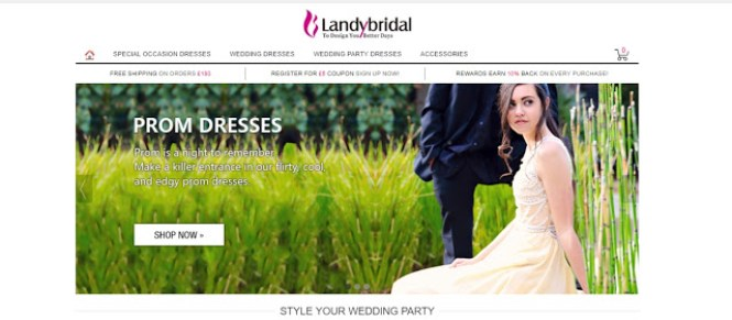 Choose Your Dream Prom Dresses at LANDYBRIDAL.CO.UK