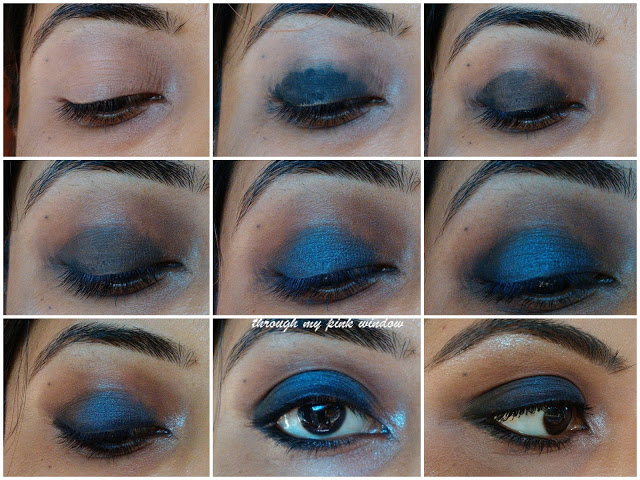 Blue Smokey Eyes Easy Step by Step Tutorial | Midnight Blue Smokey Eyes