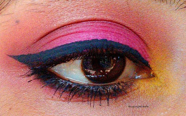 Step by Step Tutorial :Simple Orange, Pink and Yellow Gradient Eye Makeup