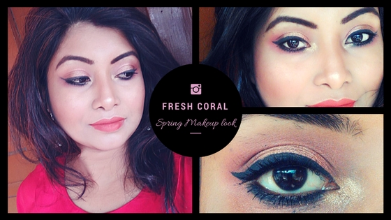 Fresh Coral Spring Makeup Look