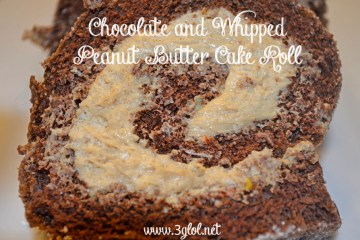 Chocolate and Whipped Peanut Butter Cake Roll by 3GLOL.net