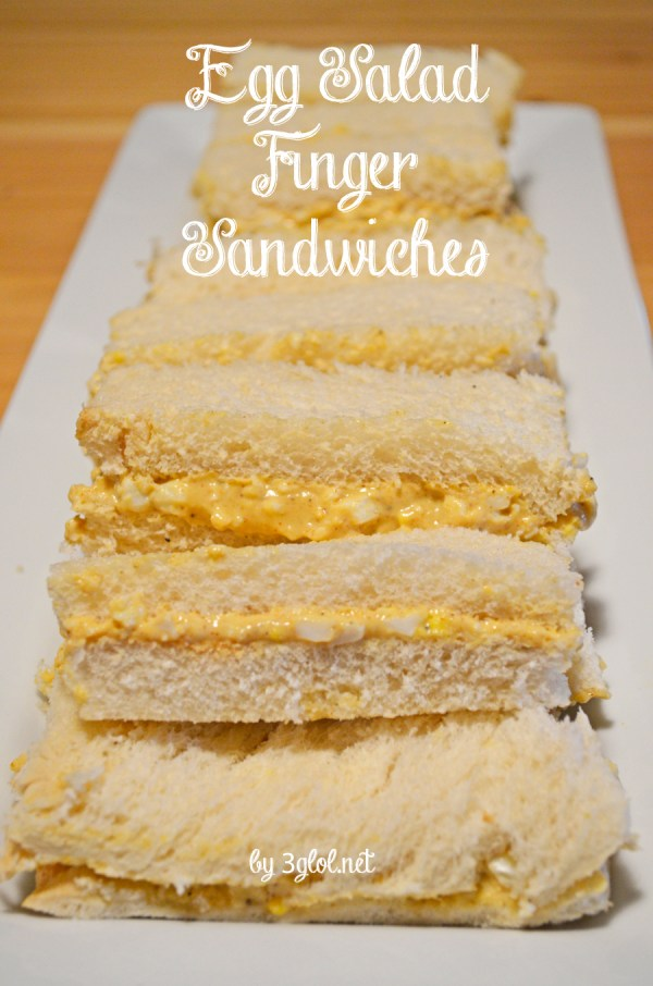 Simple Egg Salad Finger Sandwiches
