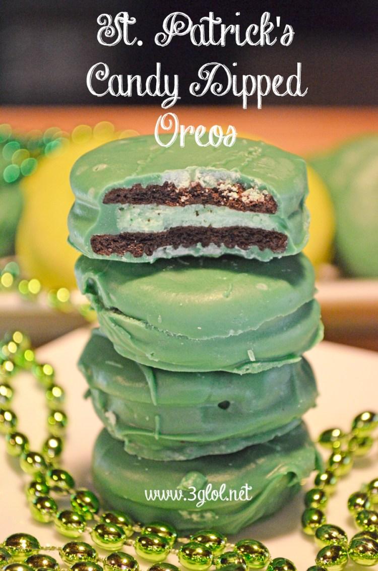 St Patricks Candy Dipped Oreos