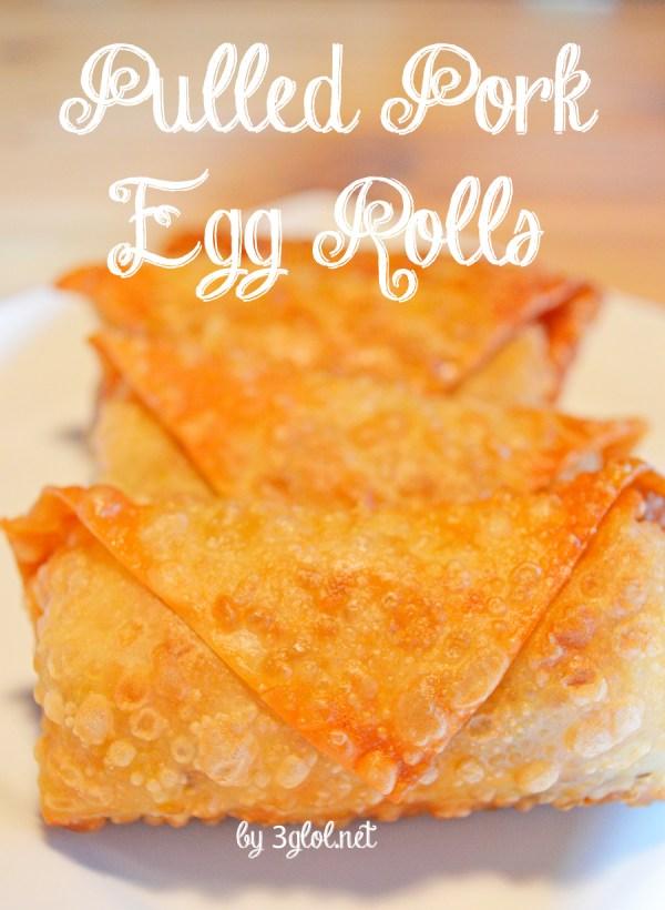 Pulled Pork Egg Rolls