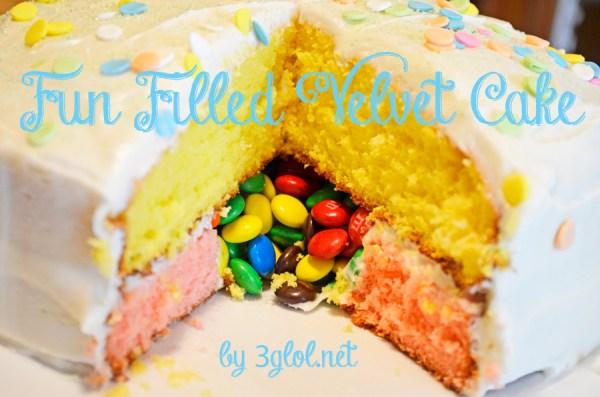 Fun Filled Velvet Cake