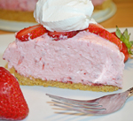 Strawberry NO BAKE Cheesecake by 3glol.net