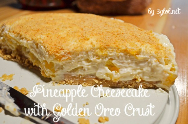 Pineapple Cheesecake with Golden Oreo Crust