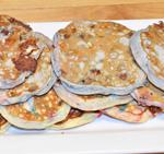 White Chocolate and M&M Pancakes