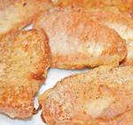 Lightly Coated Fried Thin Pork Chops