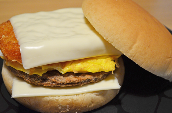 Sausage Egg And Potato Breakfast Sandwich Through The Cooking Glass