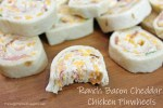 Ranch Bacon Cheddar Chicken Pinwheels