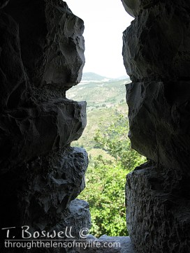 From the lower passage of the connecting wall, Rocca Maggiore, Assisi, Italy.