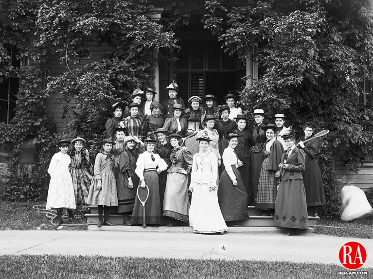1892 - WATERBURY - St. Margaret School group, circa 1892. Republican-American Archives