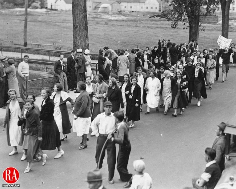 Watertown Undergarment Co. Strike June 1935.