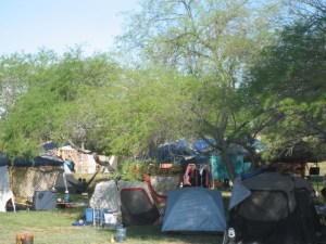 More tents in the Healing Garden. Another photo by me.