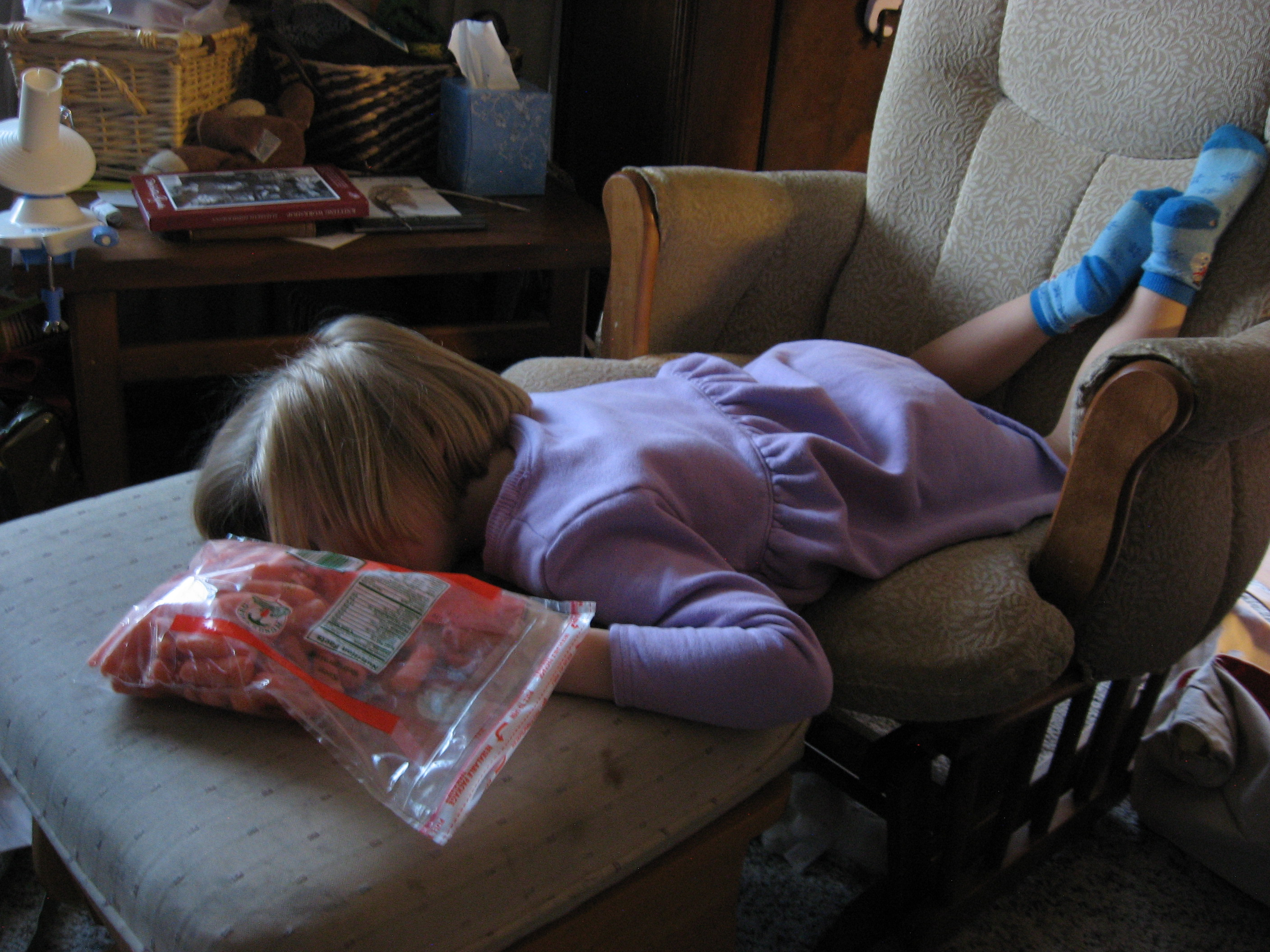 What? You've never fallen asleep with a bag of carrots before?