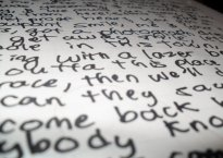 Lyrics on paper
