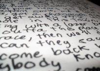 Lyrics on paper