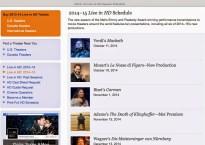 Metropolitan Opera Live in HD 2014-15