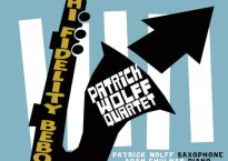 """Cover art for Patrick Wolff Quartet's newest LP, """"Hi-Fidelity Bebop"""""""