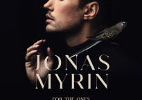 """Cover art for Jonas Myrin single, """"For the Ones We Love."""" Portrait of man against black background with gold text that reads """"Jonas Myrin, For the Ones We Love"""""""