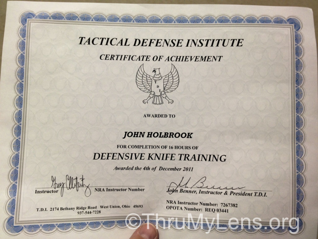 Defensive Knife Course At Tactical Defense Institute Thrumylens