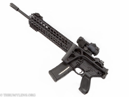 Folding the stock on the MCX makes it a much more compact weapon for navigating tight spaces