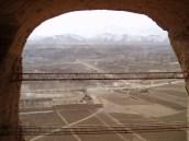 Blick aus der Kopfnische über das Bamian-Tal