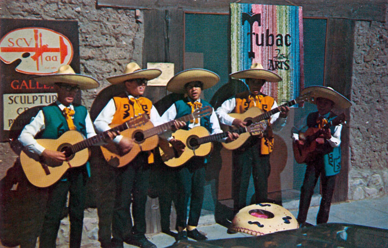 Mariachis in Tubac 1969