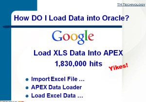 How to Load MS Excel Data into APEX?