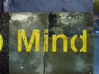 "The word ""Mind"" painted on a wall."