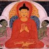 Painting of the Buddha's first discourse.