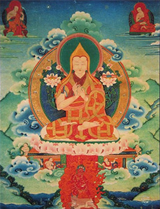 Thangka image of Lama Tsongkhapa.