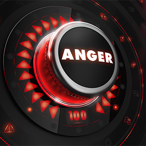 Anger dial on a console.
