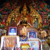 Statue of Lama Tsongkhapa and altar.
