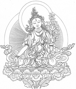 An image of white tara.