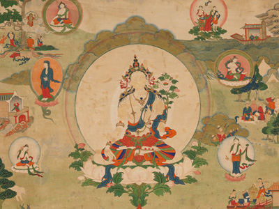 Thangka image of White Tara.