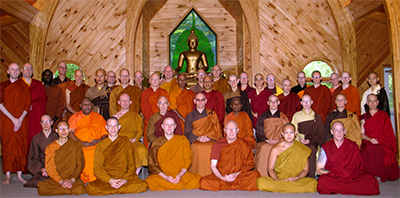 Group photo of participants in the twelfth annual Buddhist Monastic Conference.