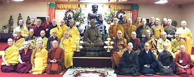 Group photo of monastics.
