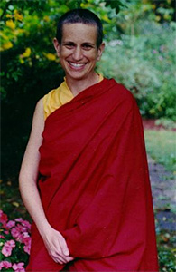 Venerable Chodron in the early years of her ordination.