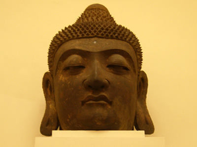 Head of a statue of the Buddha.