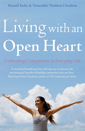 Cover of the book 'Living with an Open Heart'.