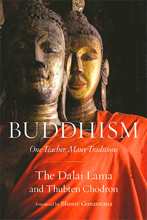 Cover of the book 'Buddhism: One Teacher, Many Traditions'.