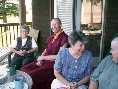 Ven. Chogkyi with other participants of the EML program.