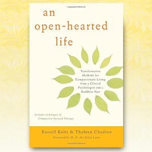 Cover of book 'An open-hearted life'.