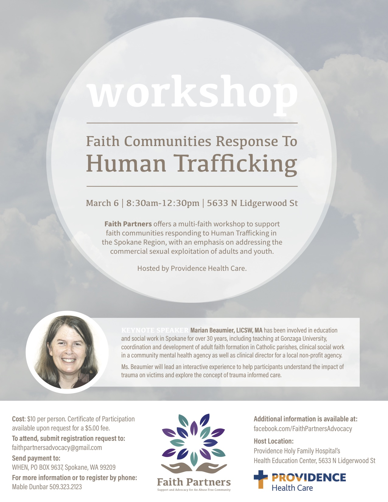 Spokane, WA: Workshop - Faith Communities Response To Human Trafficking