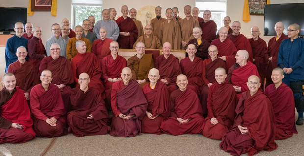Group photo of participants from the Living Vinaya in the West program.
