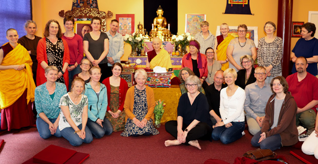 Group photo from teachings at Phendeling Center.