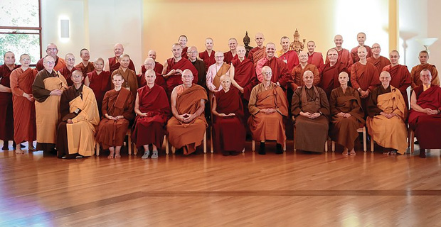 Group photo from monastic gathering.