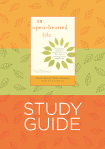 Cover of An Open-Hearted Life study guide